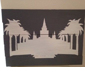 LDS Temple Silhouette Art