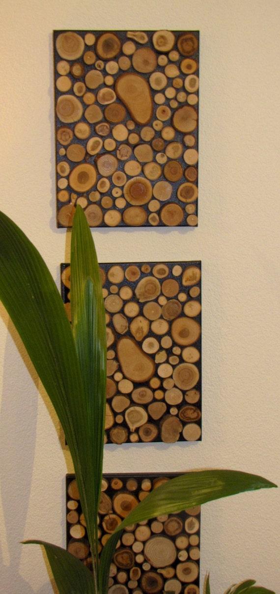 hnliche artikel wie wandbild aus holzscheiben auf etsy. Black Bedroom Furniture Sets. Home Design Ideas