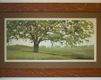 Wisdom Grows Mission Style Framed Art in Quartersawn Oak