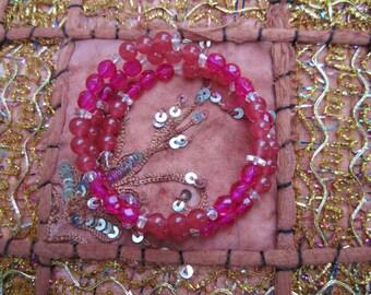 Pink Sphere Memory Bracelet