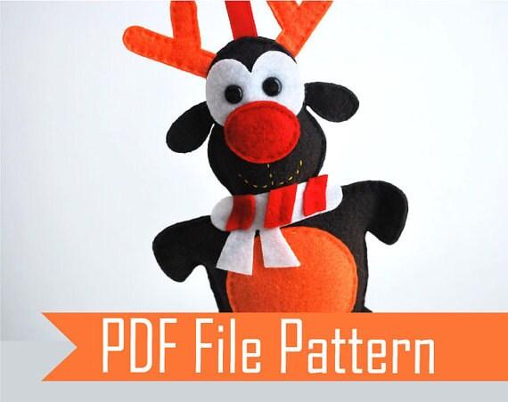 Basket Weaving Supplies Raleigh Nc : Reindeer pattern christmas reindeers felt