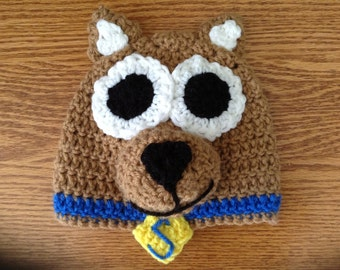 Scooby Doo Inspired Hat - Handmade Hat - Character Hat - Costume Hat - Winter Hat - Gifts for Kids