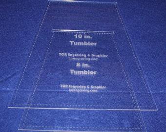 """Quilt Templates-2 Piece Tumbler Set 8"""" & 10"""" w/Seam Allowance - 1/8"""" clear"""