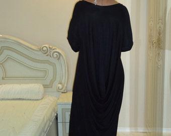 Maxi black dress Oversized black dress Plus size dress Long black dress/ All sizes available Us Uk Eu