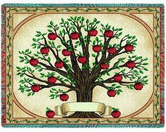 Family Tree Quilt - Family Tree Tapestry Throw Blanket Personalized
