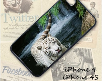 White Tiger cell phone Case / Cover for iPhone 4, 5, Samsung S3, HTC One X, Blackberry 9900, iPod touch 4 / 493
