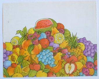 Ellen Raskin Illustrations Kitchen Decor Fruit from The Goblin Market Ellen Raskin
