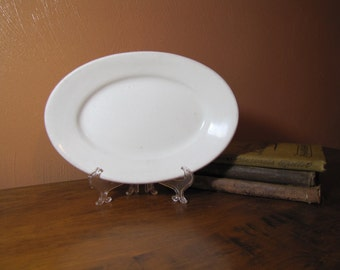 Vintage White Greenwood China Platter