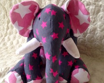 Handmade Memory Bear Keepsake - Elephant