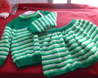 Hand made Jumper and skirt set