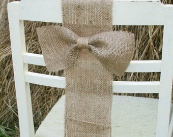 burlap chair sash, Rustic Wedding, Rustic wedding Chair Decorations,Burlap Chair Sash, Burlap Wedding Decorations