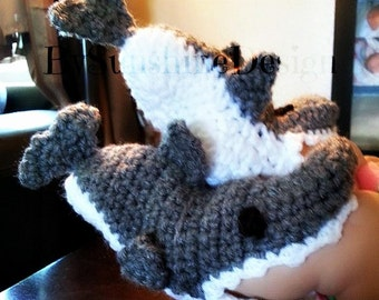 Crochet Shark booties