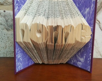 home - Folded Book Art - Fully Customizable, housewarming, house, home, realtor