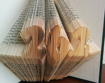 26.2 - Folded Book Art - Fully Customizable, marathon runner, racer, triathelete