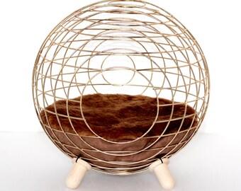 Designer Cat bed Golden- FREE ceramic Bowl