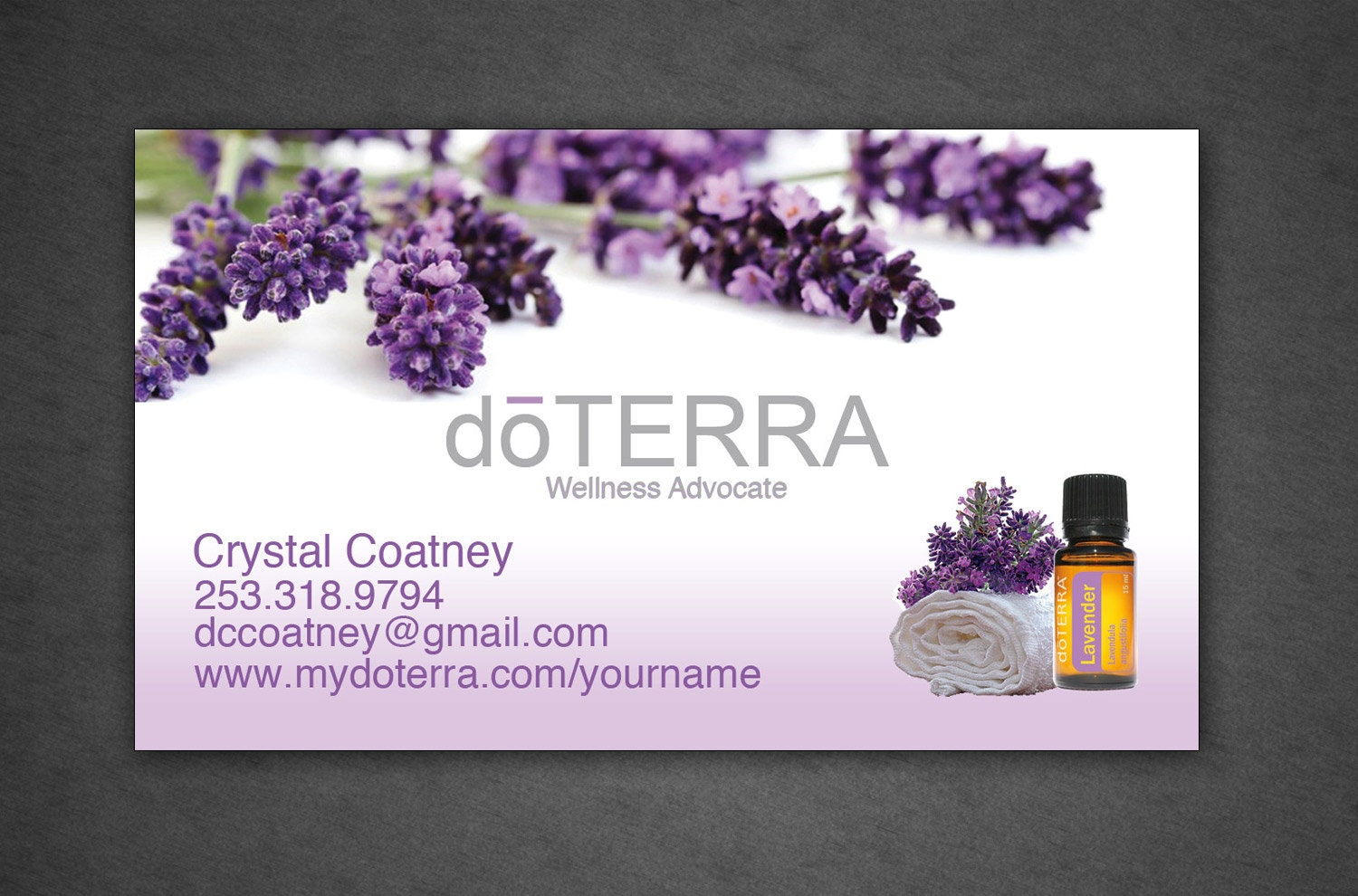 Doterra business card full color professionally by for Doterra business card template