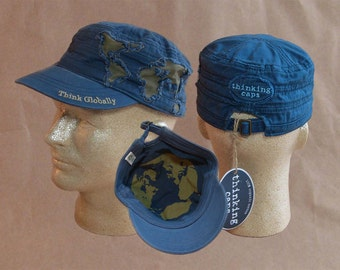 Think GLOBALLY! 100% Organic Cotton Corps-Style Thinking Cap