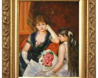 Renoir Oil Painting Copy - Hand-Painted Framed Copy of Renoir The Concert  22 x 26 Framed Size