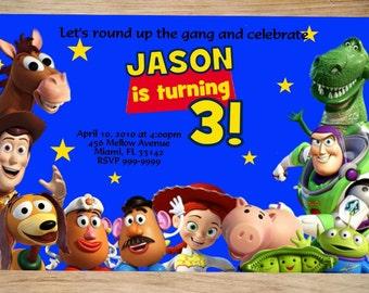 Toy Story Birthday Invitation - Toy Story Invitation - Toy Story Invite - Printable Invitation - Digital