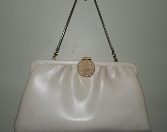 White Evening Handbag 1960's