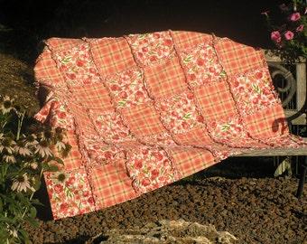 A soft flannel Rag Quilt