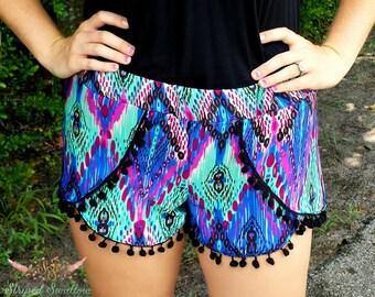 Women's Coachella Shorts PDF Sewing Pattern ... Sizes XS-XXL
