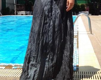 Long Gypsy Skirt - Boho- Lightweight-  Elasticated Waist - Fade Tones-Gray