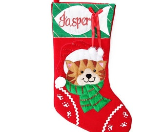 Personalised Cat Pet Christmas Stocking