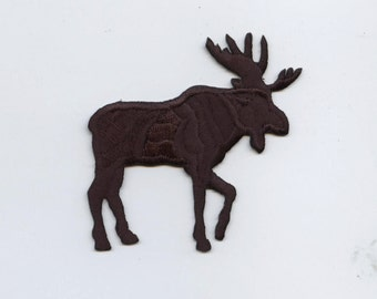Moose Silhouette Large Iron on Applique 696128A