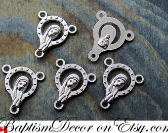 Wholesale Lot of 5 Rosary Centers. Rosary Center Piece. Connector. Link. Rosary Part. Supplies. Rosary Making Parts. Rosary Centerpiece.