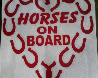 Horse on Board Vinyl Graphic