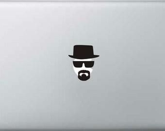 Walter White Heisenberg Breaking Bad Vinyl Decal Sticker MacBook iPad iPhone