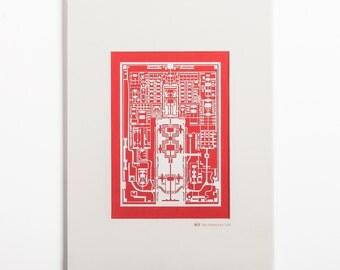 Forbidden City paper-cut,  A4 Frame, Paper Art  IDEAL GIFTS