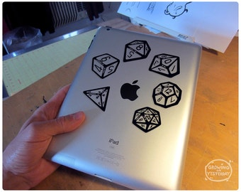 Polyhedral Dice Decal Pack of all your favorite polyhedral dice