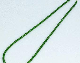 Very Rare Chrome diopside necklace 3-4 mm,Healing ,Love ,Abundace,Heart Chakra,TRUE LOVE