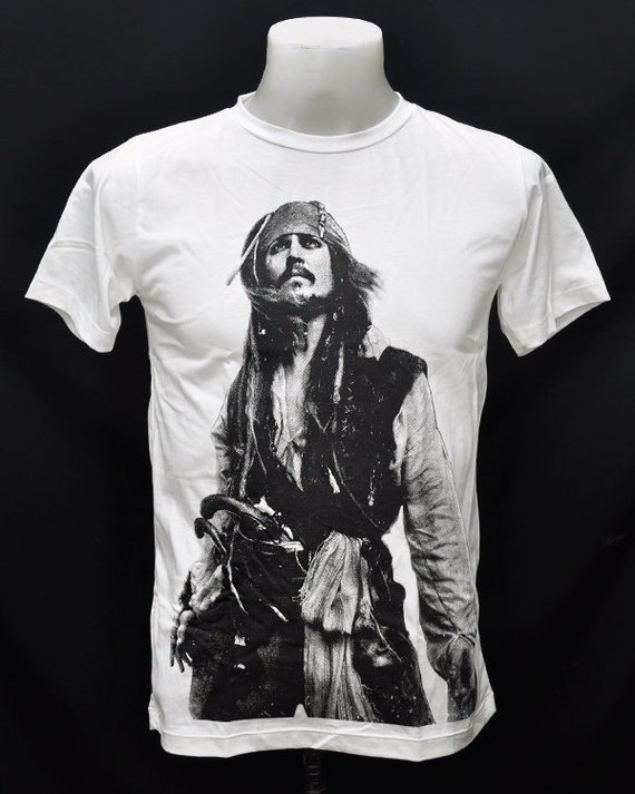 Captain Jack Sparrow Jack Sparrow Johnny Depp Pirates of the Caribbean Pirate Captain White Unisex T-Shirt
