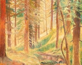 European art oil painting landscape forest