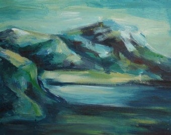 European art oil composition landscape