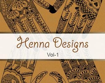 Henna Designs- Vol. 1 ebook - Mehndi pattern book with 25 Handmade Henna Designs, mehndi designs, indian mehndi, indian henna tattoo
