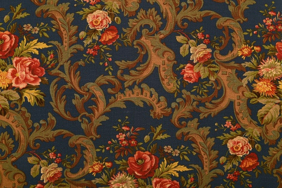 antique reproduction home decor fabric by the yard