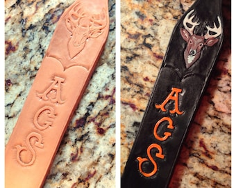 Hand tooled rifle sling