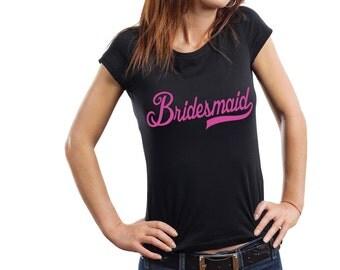 Bridesmaid T-shirt Ladies Junior-Fit Wedding Bridesmaid Tee Shirt