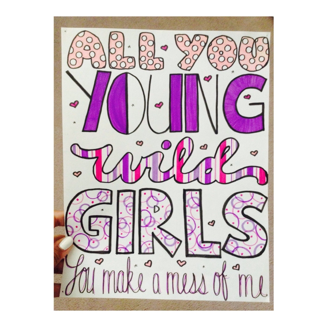 Young Girls Bruno Mars Lyric Drawing by AlexiasDrawings on ...