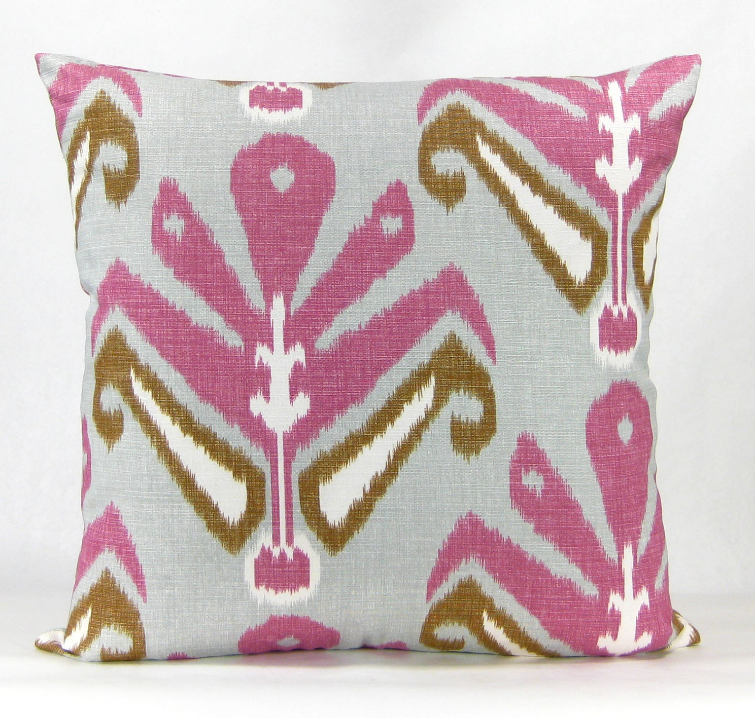 Blush Pink Decorative Pillow : John Robshaw Ikat Pillow Blush Pink Light by DecordeauxBoutique
