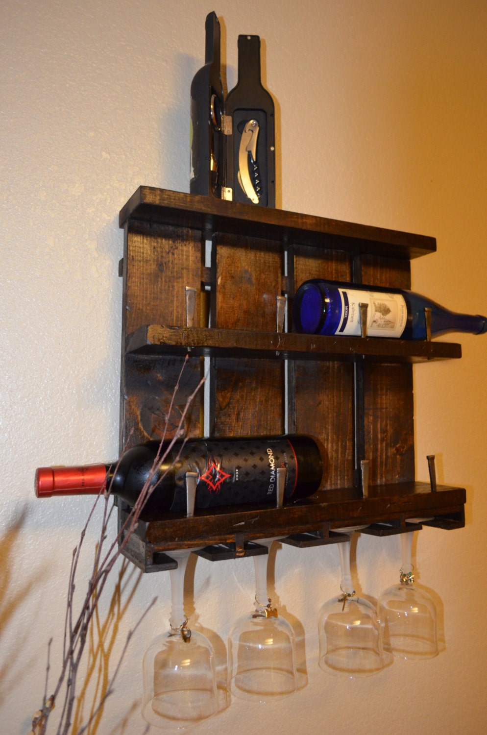 Decorative Wine Rack in Twisted aspen by ... |Unique Wood Wine Rack
