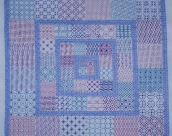 KL130 Patchwork Blackwork Kit