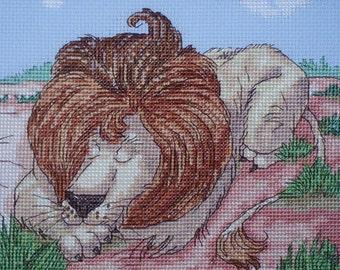 KL81 Lion Counted Cross Stitch Kit