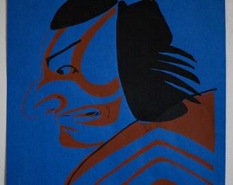 Native American Warrior Screen Print