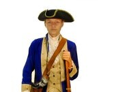 Girls Revolutionary War Deborah Sampson Costume - American Revolution Soldier - Female Historical Figures