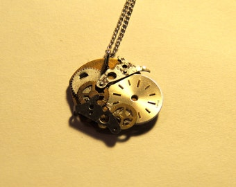 Vintage Watch-Part Pendant - With chain